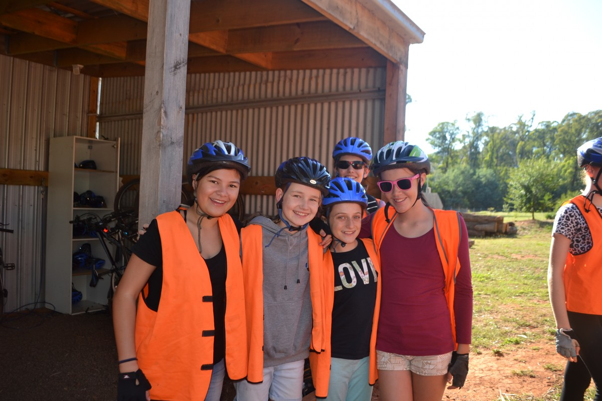 Year 7 Camp Bike Riding