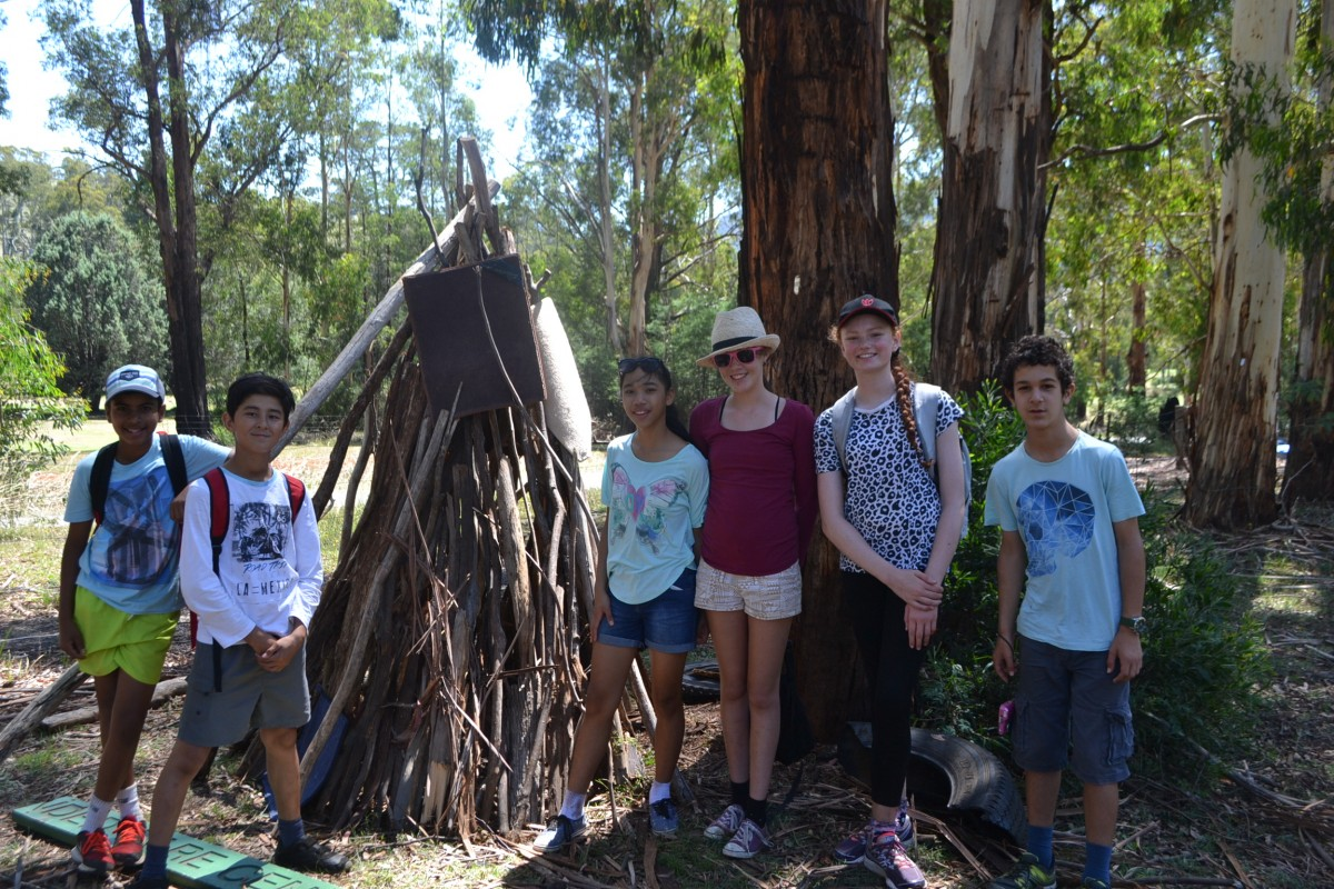 Year 7 Camp Hut Building