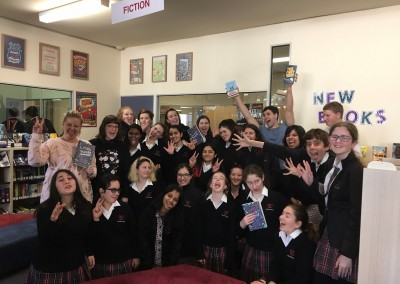 Authors Will Kostakis & Danielle Binks visiting the Book Club