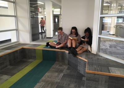 Reading in the new Library space