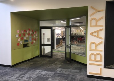 The new Library entrance