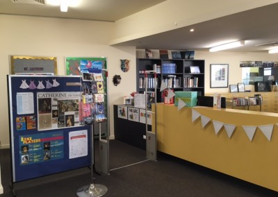 The front desk of the library