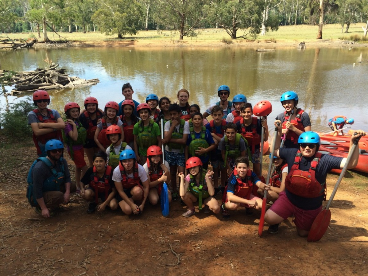 Year 7 Camp Canoeing